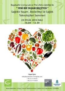 """23 Eylül 2014 Salı günü Başakşehir Living Lab ve The LifeCo işbirliği ile yapılacak olan """"Yeni Bir Yaşam Reçetesi"""""""