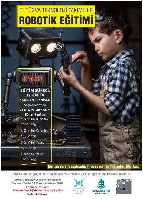 Başakşehir Living Lab'de  T3 Tügva Teknoloji Takımı ile Robotik Eğitimi