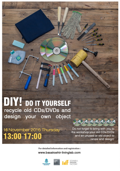 DIY! Do it Yourself recycle old CDs/DVDs and design your own object