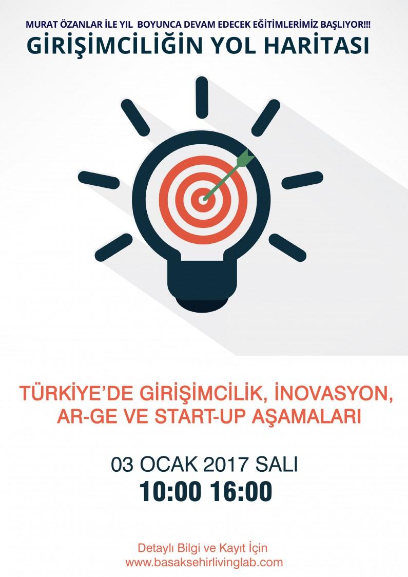 Türkiye'de Girişimcilik, İnovasyon, Ar-Ge ve Start-Up  Aşamaları