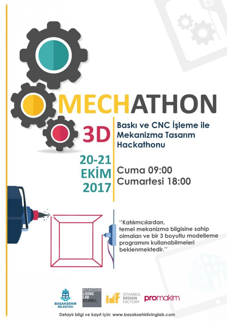 MECHATHON: 3D Baskı ve CNC işleme ile Mekanizma Tasarım Hackathonu