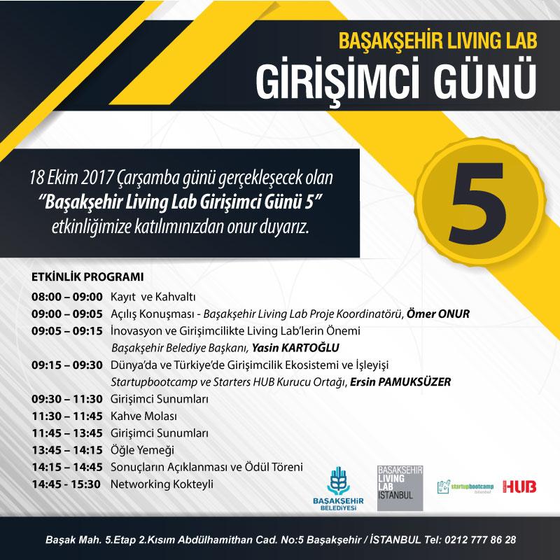 Başakşehir Living Lab Girişimci Günü 5 Programı