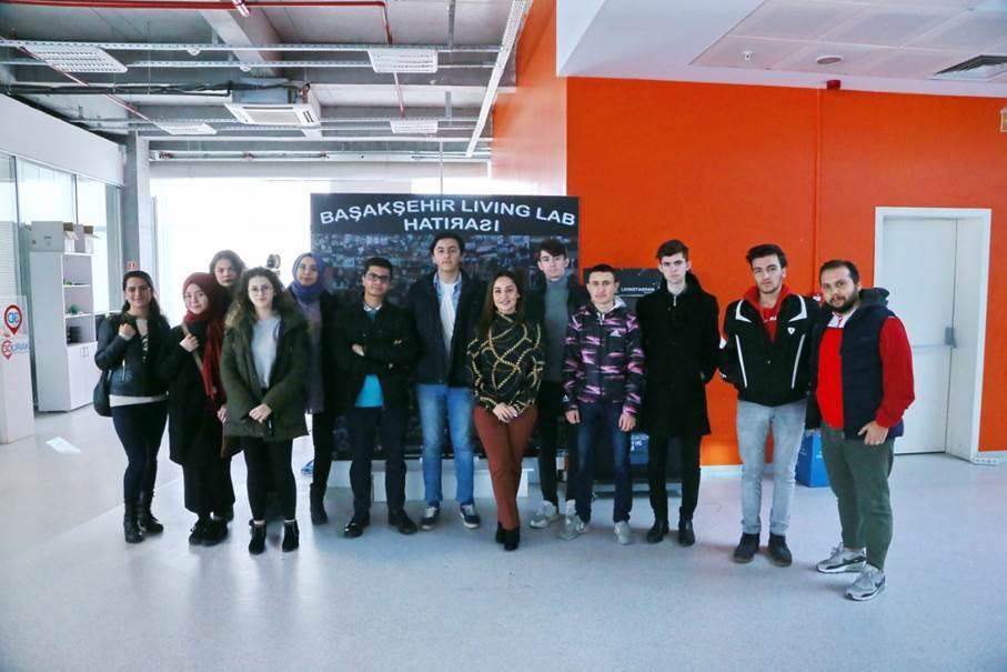 Öğrenciler Başakşehir Living Lab'i Tanıyorlar