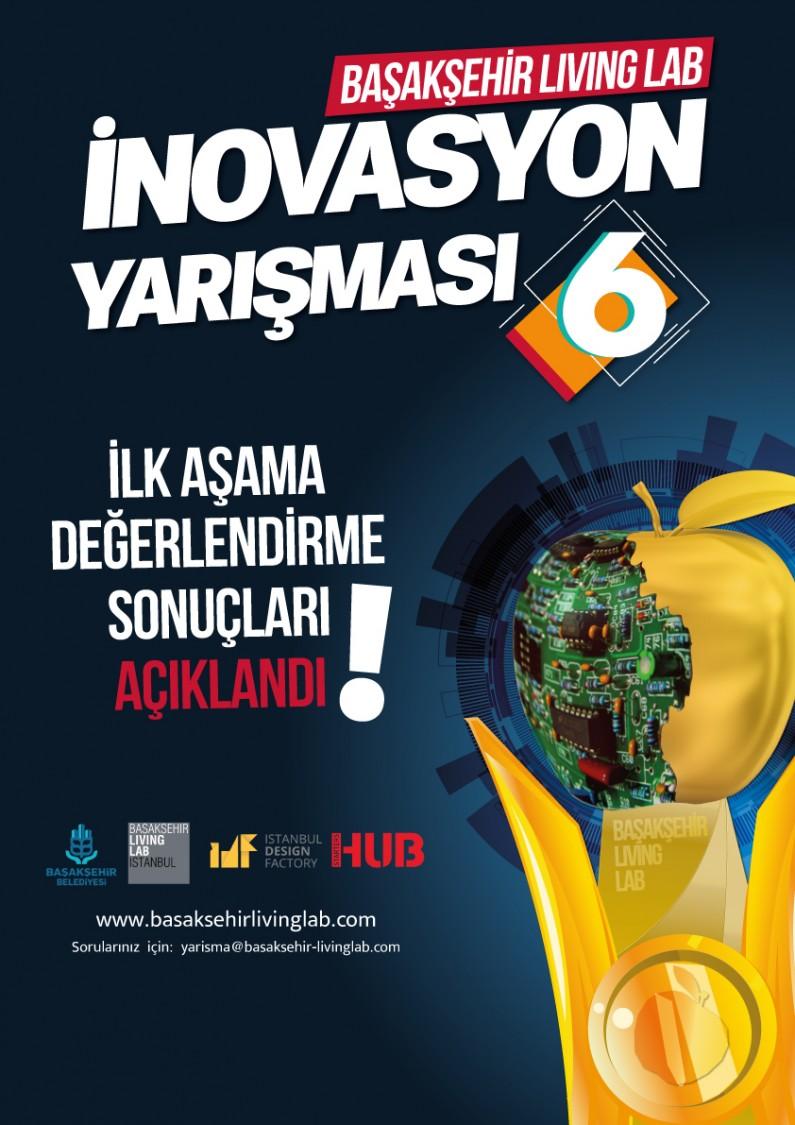 Başakşehir Living Lab İnovasyon Yarışması 6 –  1.Aşamayı Geçen Proje Rumuzları