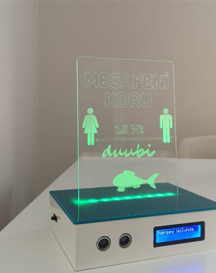 DUUBİ – Akıllı Sosyal Mesafe ve Hava Kalitesi Farkındalığı Cihazı