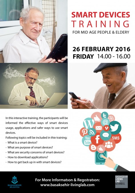 Smart Devices Training for Mid Age People and Elderly