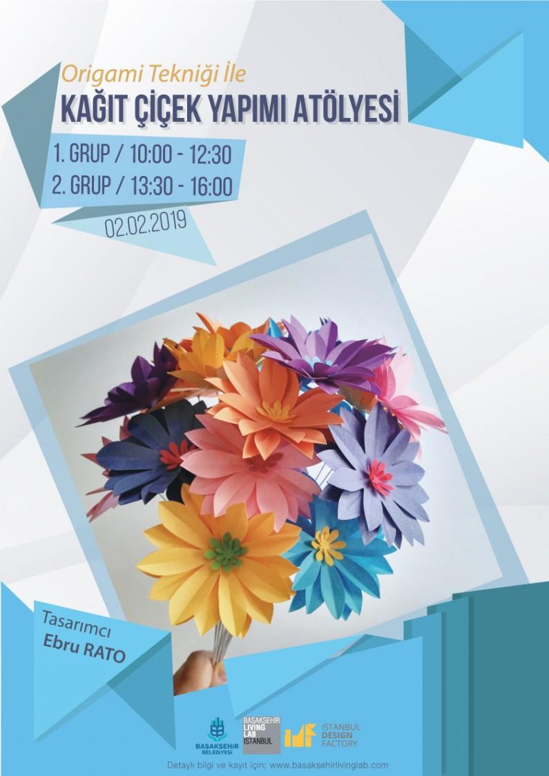 Origami Tekniği İle Kağıt Çiçek Yapımı Atölyesi
