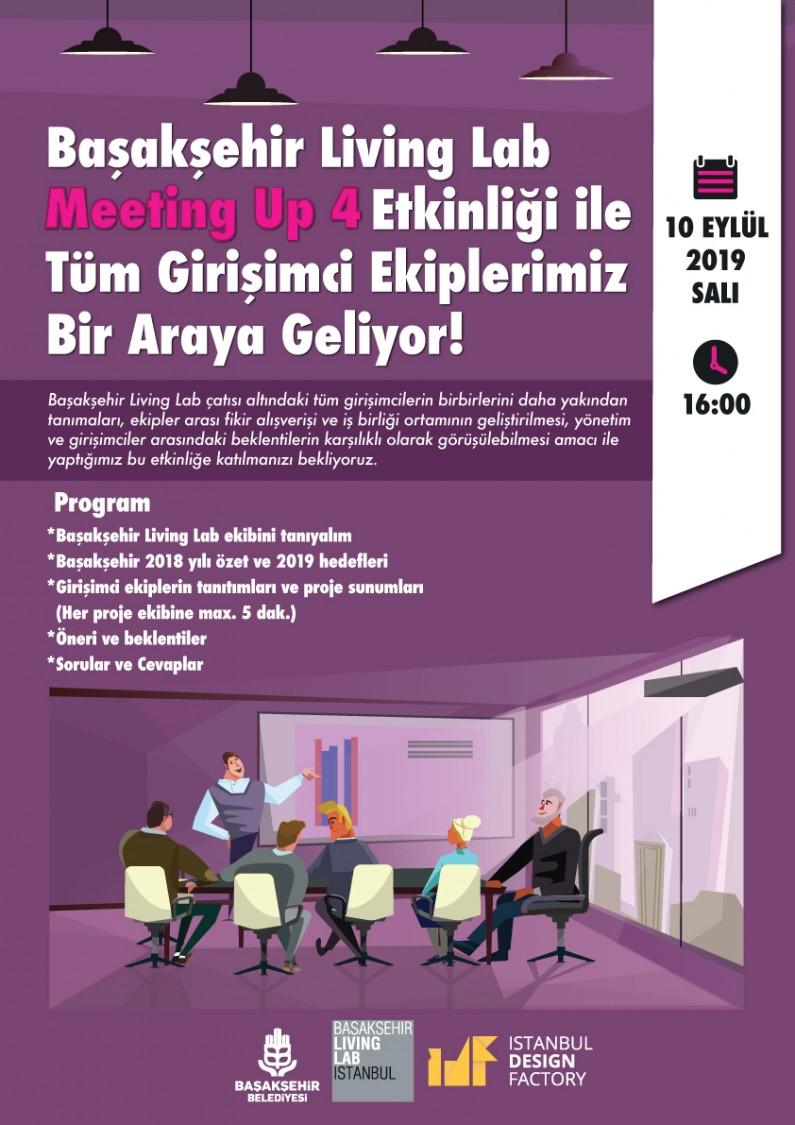 Başakşehir Living Lab Meeting Up 4 Etkinliği ile Tüm Girişimci Ekiplerimiz Bir Araya Geliyor!
