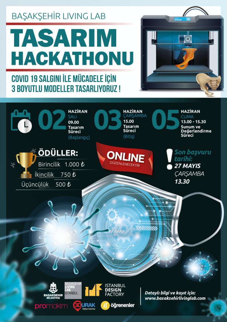 Başakşehir Living Lab Tasarım Hackathonu: Covid – 19 Salgını ile Mücadele