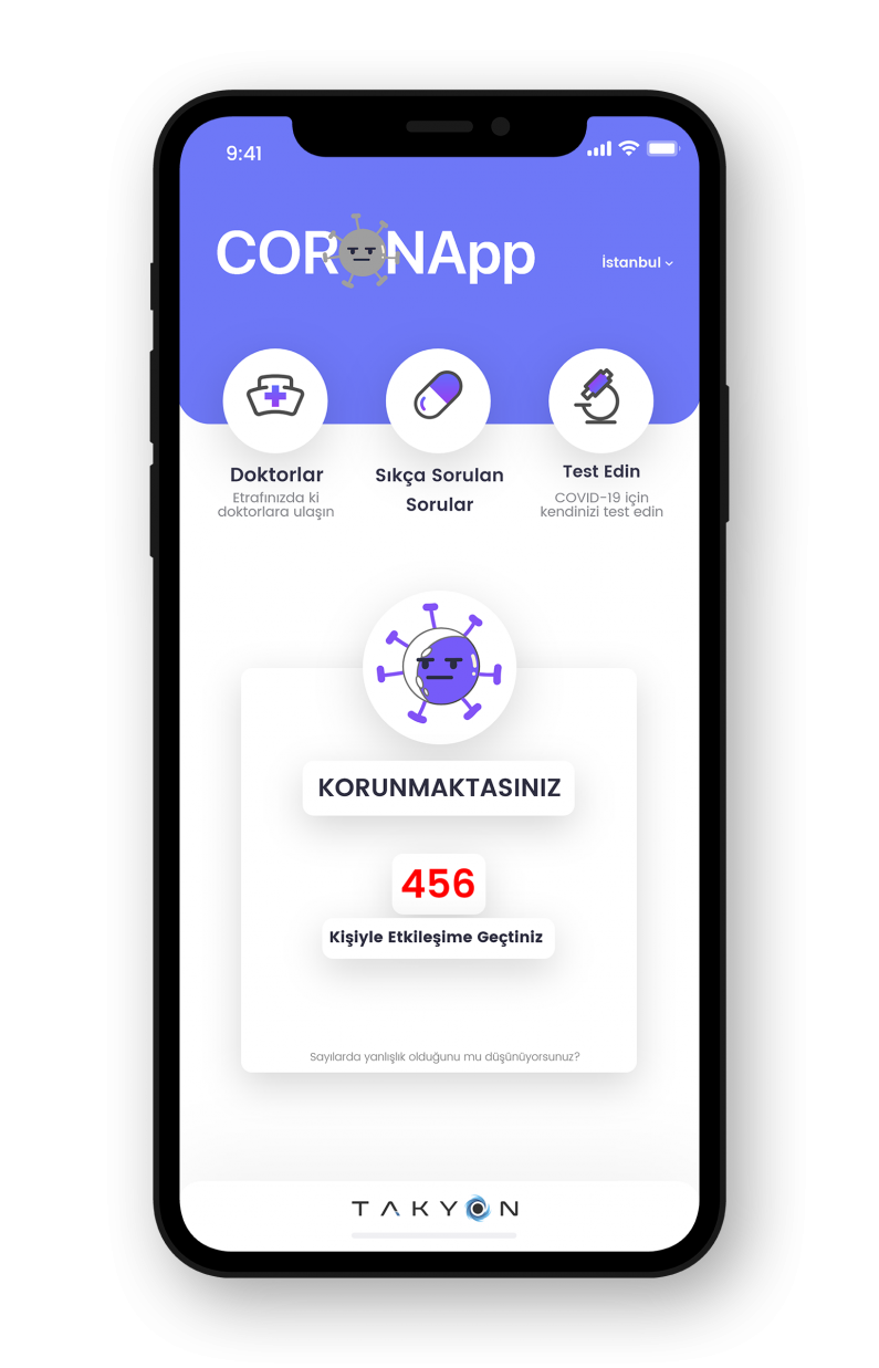 Başakşehir Living Lab entrepreneurs have developed an application that will make COVID-19 traceable and received an award!