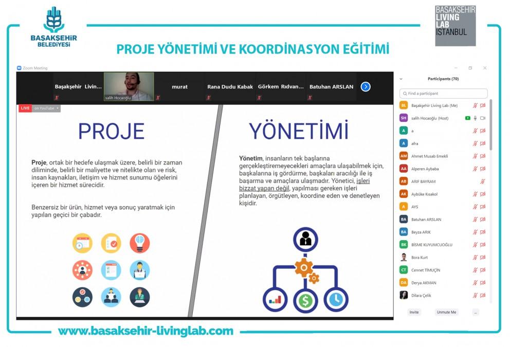 Online platformda Proje Yönetimi ve Koordinasyon Eğitimi Verildi