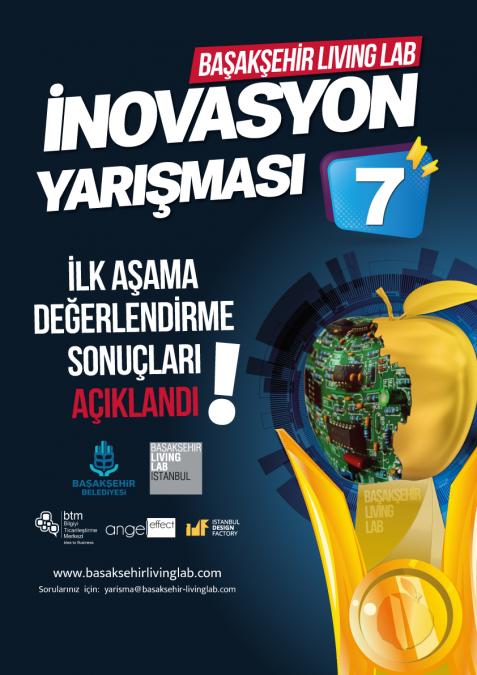 Başakşehir Living Lab İnovasyon Yarışması 7 – 1. Aşamayı Geçen Proje Rumuzları
