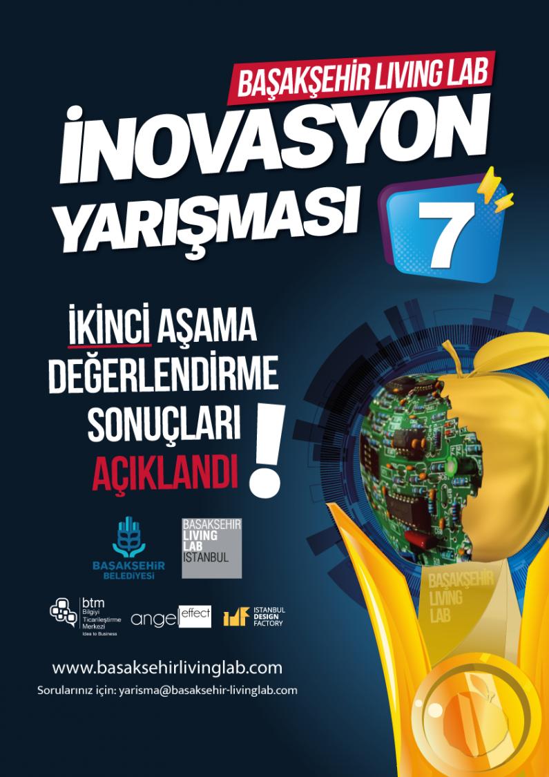 Başakşehir Living Lab İnovasyon Yarışması 7 – 2. Aşamayı Geçen Proje Rumuzları