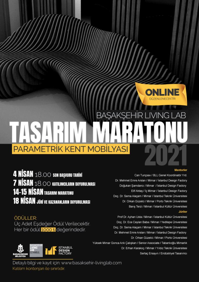 Başakşehir Living Lab Tasarım Maratonu – Parametrik Kent Mobilyası