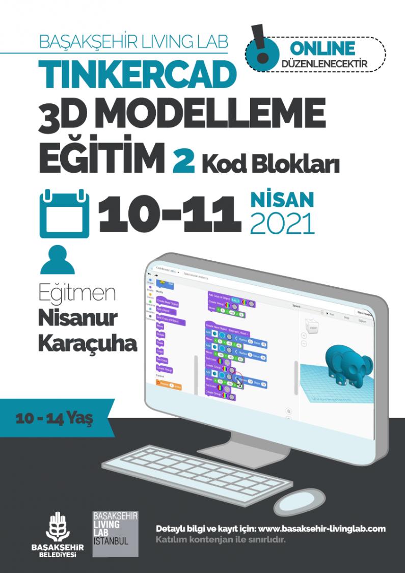 Tinkercad 3D Modelleme Eğitim Programı 2 Kod Blokları