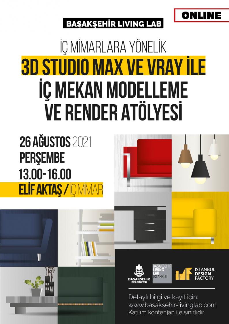 İç Mimarlara Yönelik 3D Studio Max ve Vray İle Bir iç Mekan Modellemesi ve Render Alınması