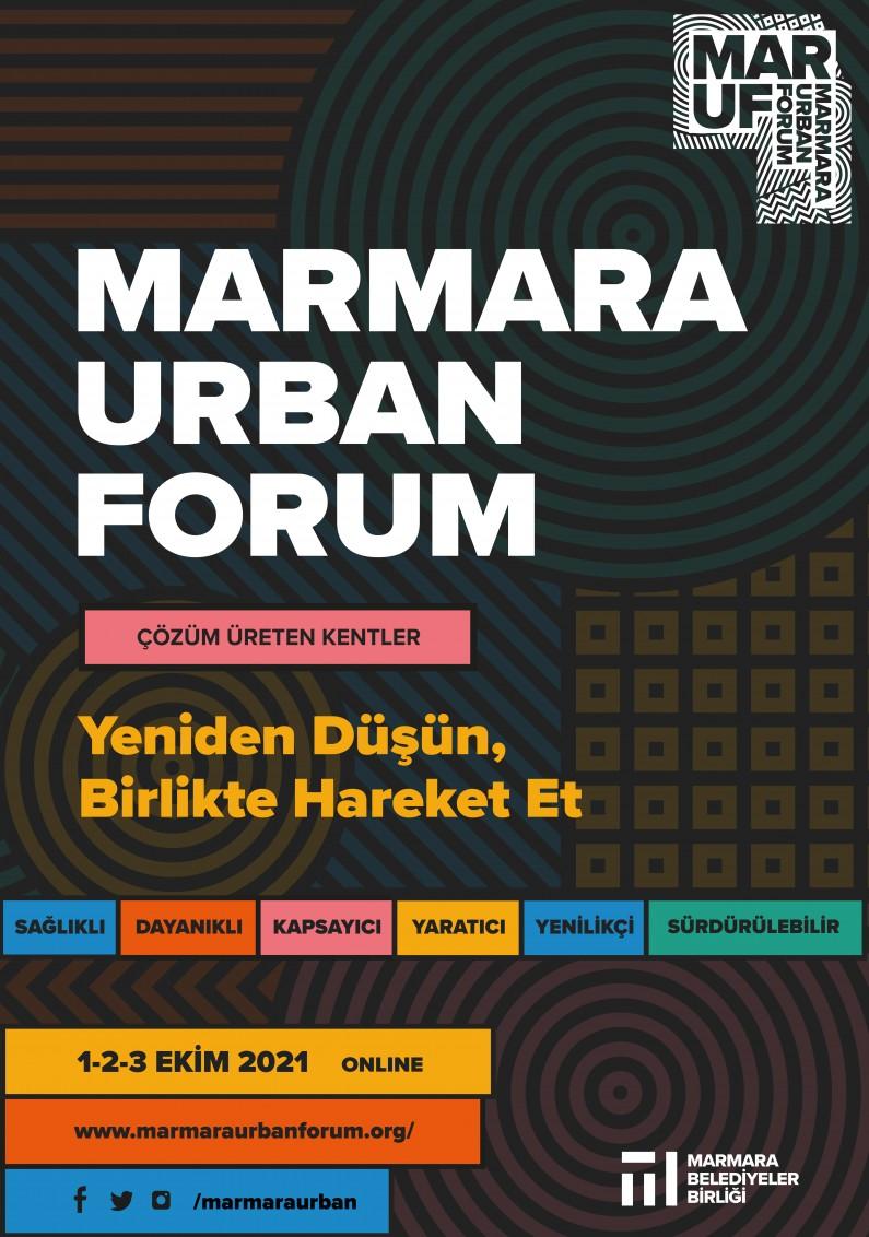 MARMARA URBAN FORUM 1-3 EKİM'DE ONLINE DÜZENLENİYOR